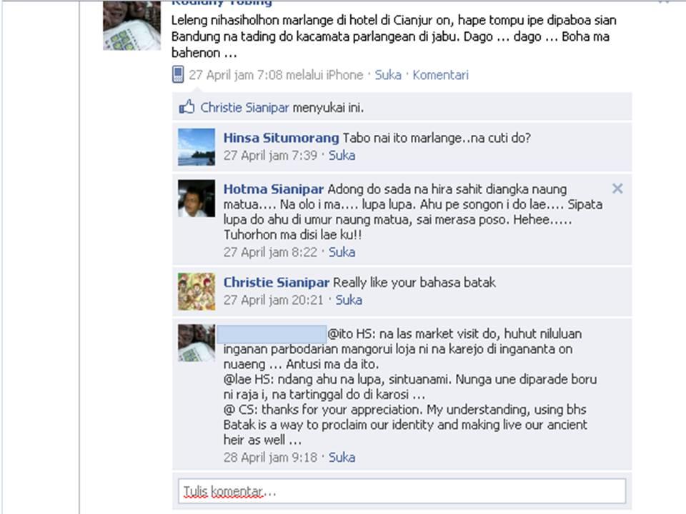 ... Ulang Tahun Dalam Bahasa Batak Toba Facebook Berbahasa Batak (100511